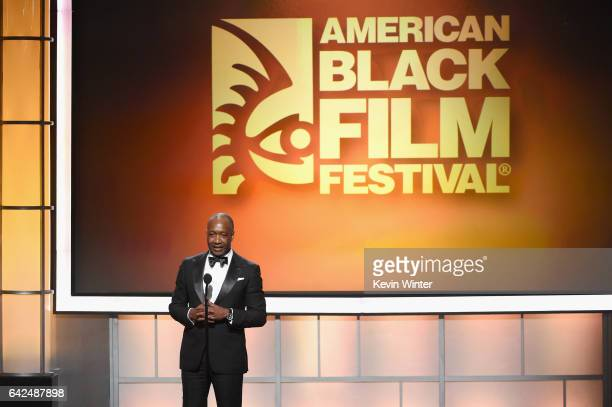 Founder of the ABFF Jeff Friday speaks onstage during BET Presents the American Black Film Festival Honors on February 17 2017 in Beverly Hills...