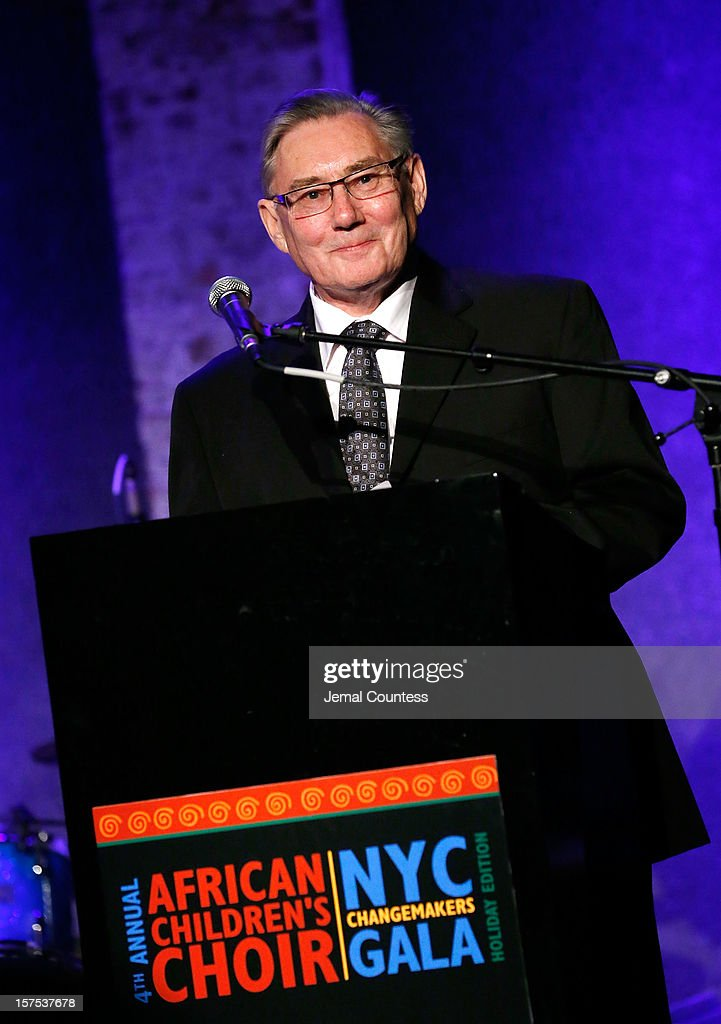 Founder of the African Childrens Choir Ray Barnett speaks during the 4th Annual African Children's Choir Fundraising Gala at City Winery on December 3, 2012 in New York City.