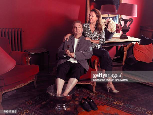 Founder of the film festival of French language Dominique Besnehard and President of the Jury Catherine Frot are photographed for Paris Match on...