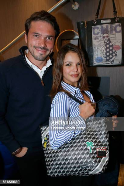 Founder of 'The French Publicist' Alexis SurreFenaille and Severine Ferrer attend Reem Kherici signs her book 'Diva' at the Barbara Rihl Boutique on...