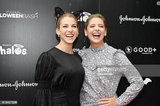 Founder of the GOOD Foundation and host Jessica Seinfeld and actress Sarah Michelle Prinze attend the FirstEver GOOD Foundation Halloween Bash hosted...