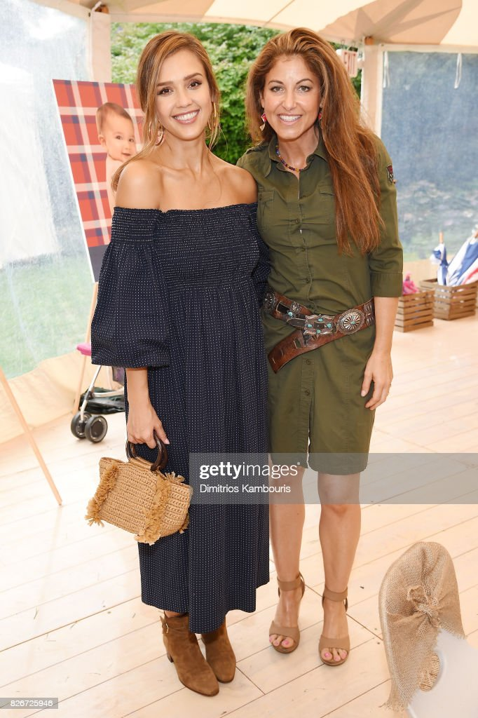 Founder of The Honest Company and Honest Beauty Jessica Alba (L) and Dylan Lauren attend as the Honest Company and The GREAT. celebrate The GREAT Adventure on August 5, 2017 in East Hampton, New York.