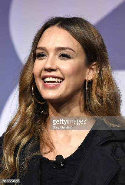 Founder of The Honest Company Jessica Alba attends the Building a Brand In a Mobile First World event during Advertising Week 2017 at PlayStation...