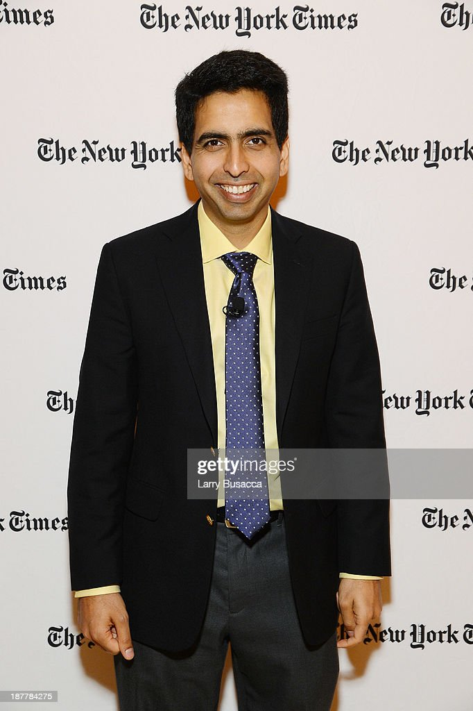 Founder of The Khan Academy Sal Khan attends the New York Times 2013 DealBook Conference in New York at the New York Times Building on November 12, 2013 in New York City.