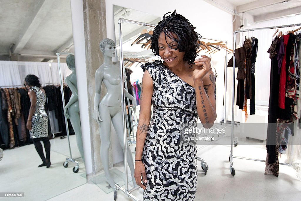 Founder Of The New African Empower Suzanne Africa Engo And Star Of Viva Riva Movie Manie Malone Attend Fitting At Marc Bouwer