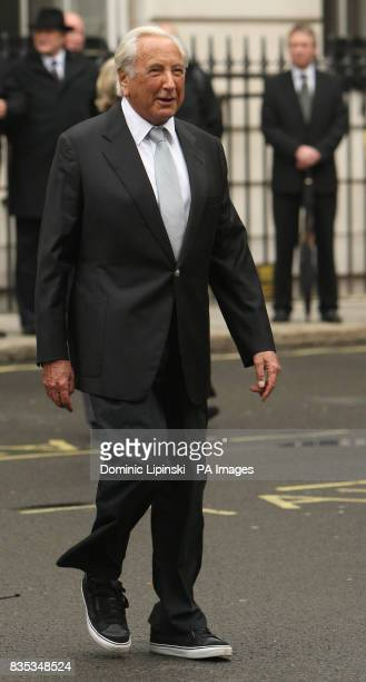Founder of the Police Memorial Trust Michael Winner at a memorial service in St James's Square London to mark the 25th anniversary of the murder of...