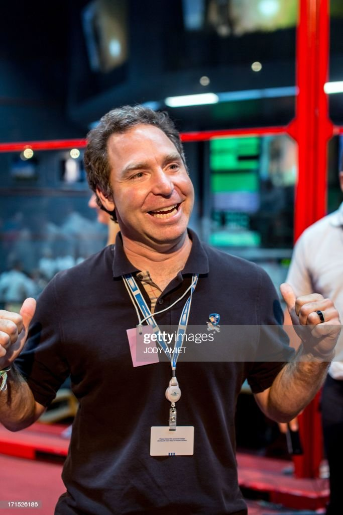 Founder of the satellite operator O3b Networks billionaire, Greg Wyler react after the launching of Russian Soyouz rocket, carrying four O3b Satellite Constellation, on June 25, 2013 in Kourou space base in the French overseas department of Guiana.