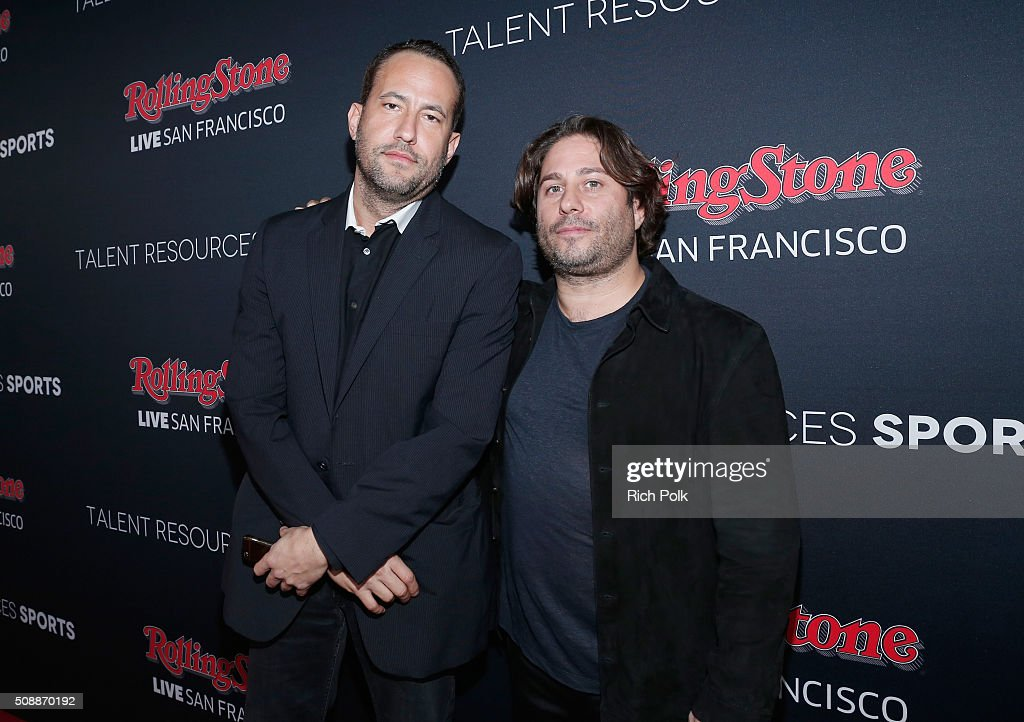 Founder of TR Sports David Spencer (L) and founder of Talent Resources Michael Heller attend Rolling Stone Live SF with Talent Resources on February 7, 2016 in San Francisco, California.