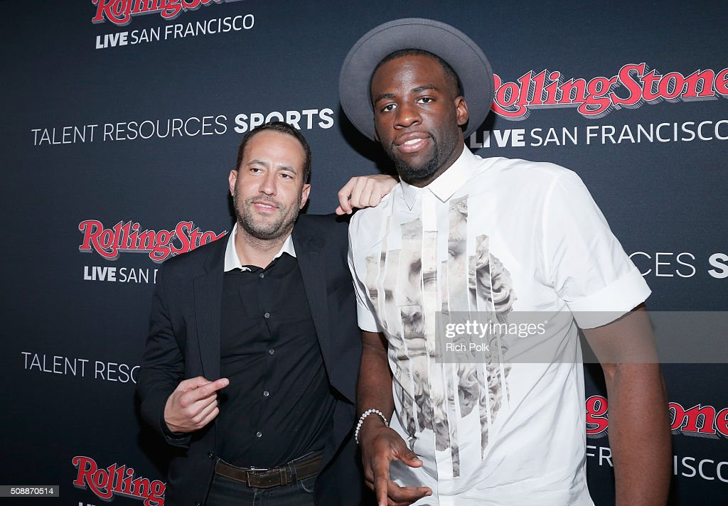 Founder of TR Sports David Spencer (L) and NBA player <a gi-track='captionPersonalityLinkClicked' href=/galleries/search?phrase=Draymond+Green&family=editorial&specificpeople=5628054 ng-click='$event.stopPropagation()'>Draymond Green</a> attend Rolling Stone Live SF with Talent Resources on February 7, 2016 in San Francisco, California.