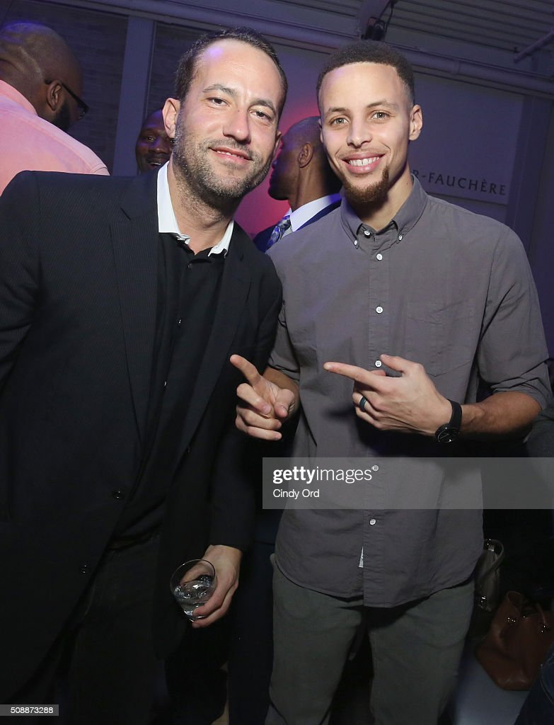 Founder of TR Sports David Spencer (L) and Stephen Curry attend Rolling Stone Live SF with Talent Resources on February 7, 2016 in San Francisco, California.