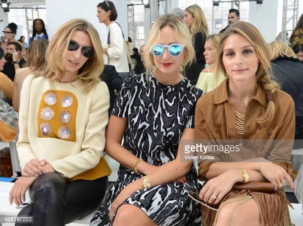 Founder of Vensette Lauren Remington Platt Princess Elisabeth von Thurn und Taxis and TV personality Olivia Palermo attend the Delpozo fashion show...