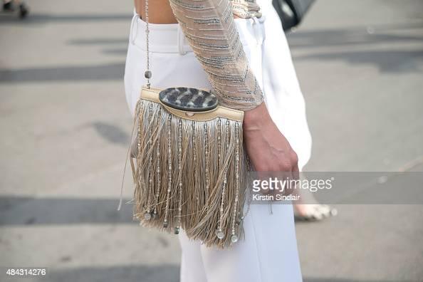 Founder of Vensette Lauren Remington Platt wears all Armani on day 3 of Paris Fashion Week Haute Couture Autumn/Winter 2015 on July 7 2015 in Paris...