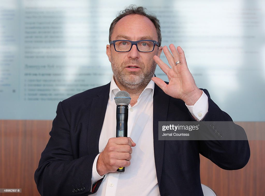 Founder of wikipedia <a gi-track='captionPersonalityLinkClicked' href=/galleries/search?phrase=Jimmy+Wales&family=editorial&specificpeople=836275 ng-click='$event.stopPropagation()'>Jimmy Wales</a> speaks at the premiere of Global Goals 60 second Cinema Ad at the United Nations on September 24, 2015 in New York City.