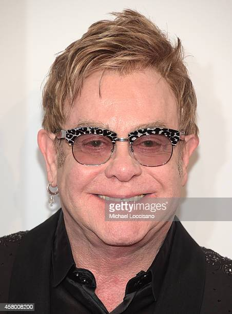 Founder Sir Elton John attends the Elton John AIDS Foundation's 13th Annual An Enduring Vision Benefit at Cipriani Wall Street on October 28 2014 in...