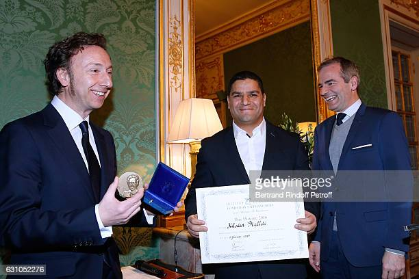 Founder Stephane Bern Prize of Stephane Bern's Foundation for 'L'Histoire' Khaled Melliti for his book 'Carthage' and President of the Jury for the...