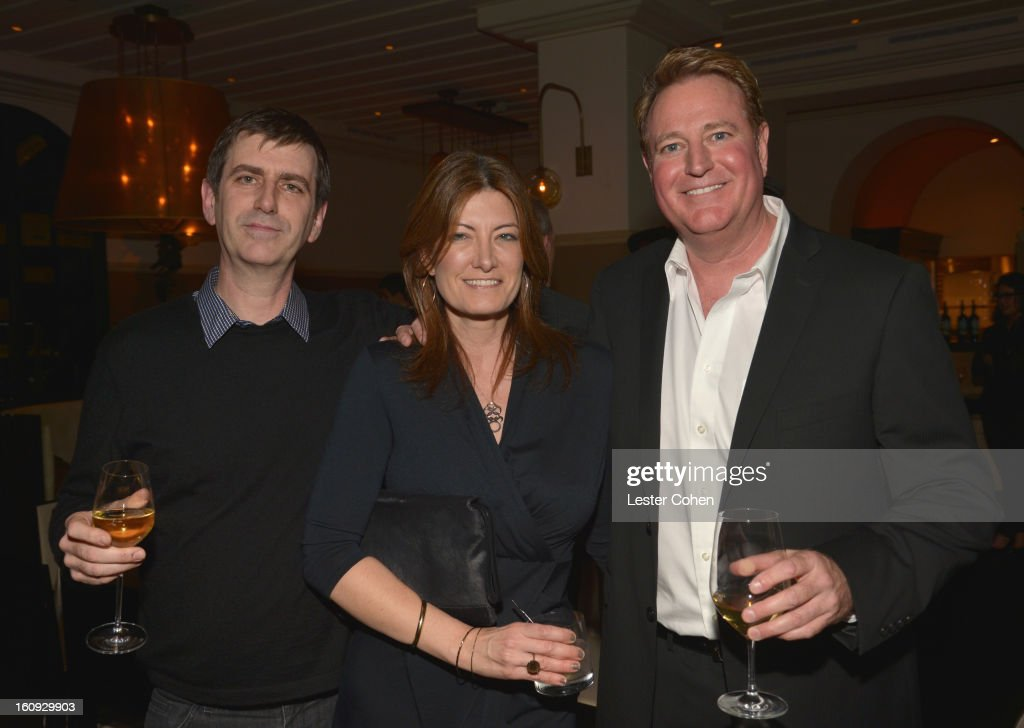 Founder/CEO of AAM Mark Beaven, President of Worldwide Music for Sony Pictures Entertainment Lia Vollack and President of Music for Paramount Pictures Randy Spendlove attend the Friends N Family Dinner Hosted by Mark Beaven and Andy Kipnes at Scarpetta on February 7, 2013 in Beverly Hills, California.