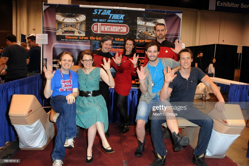Founder/Ceo of Star Trek Enterprise D Bridge Restoration Huston Huddleston, Producer Jane Espenson, actor Brad Bell and actor Sean Hemeon participate in WonderCon Anaheim 2013 - Day 3 held at Anaheim Convention Center on March 31, 2013 in Anaheim, California.