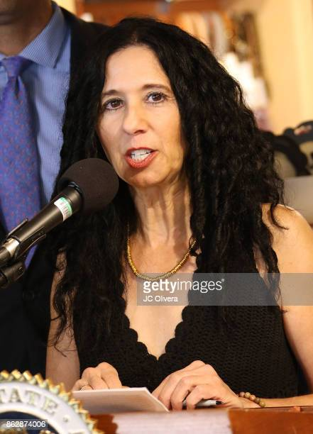 Founder/president of Social Compassion in Legislation Judie Mancuso speaks during a press conference celebrating Calfornia Governor Jerry Brown...