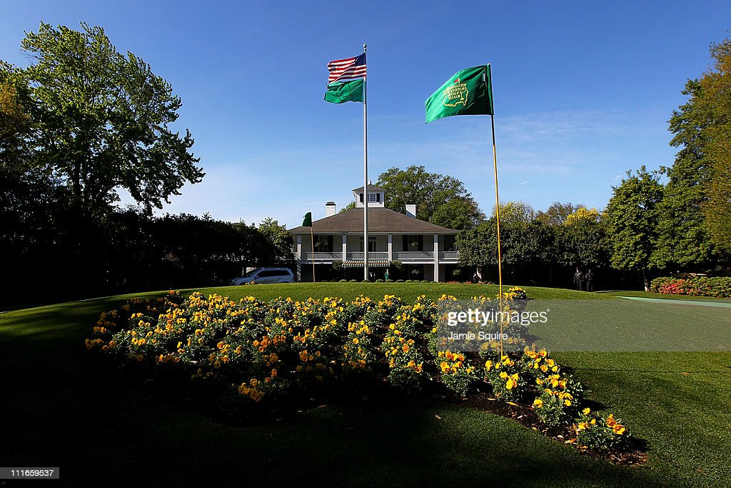 Founders Circle and the clubhouse are seen during a practice round prior to the 2011 Masters Tournament at Augusta National Golf Club on April 5 2011...