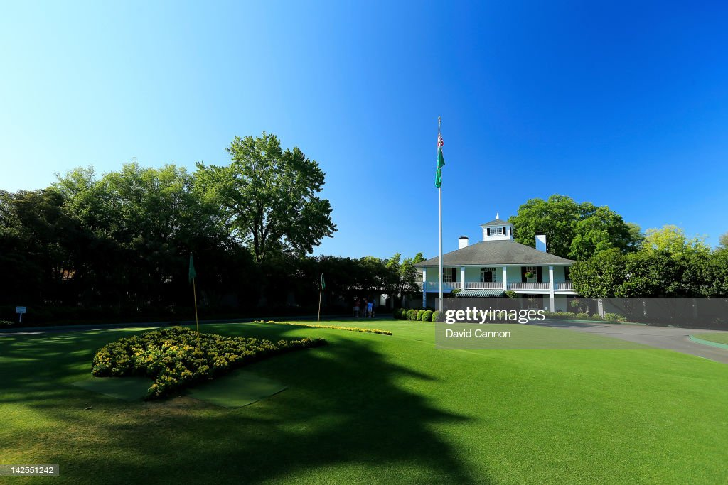 Founders Circle and the Clubhouse are seen during the third round of the 2012 Masters Tournament at Augusta National Golf Club on April 7 2012 in...