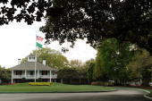 Founder's Circle and the clubhouse is seen prior to the 2009 Masters Tournament at Augusta National Golf Club on April 5 2009 in Augusta Georgia