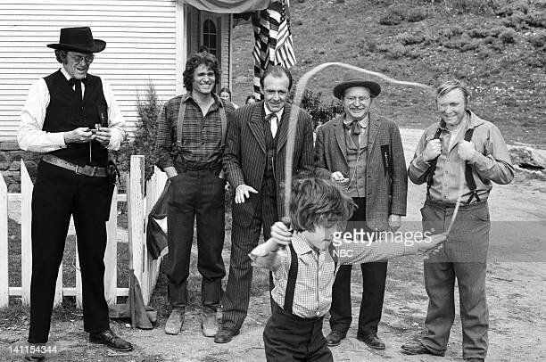 PRAIRIE 'Founder's Day' Episode 24 Aired Pictured Kevin Hagen as Doctor Hiram Baker Michael Landon as Charles Ingalls Richard Bull as Nels Oleson...