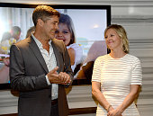 Founders Gordon Gray and Kristen Gray speak at Charlotte Gwenyth Gray Foundation's Entertainment Industry Benefit at Atom Factory on June 25 2015 in...