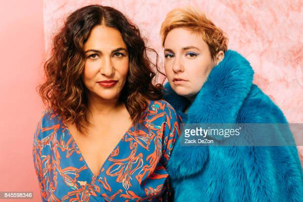 Founders of Lenny Jenni Konner and Lena Dunham pose for a portrait during the Daily Front Row's Fashion Media Awards at Four Seasons Hotel New York...