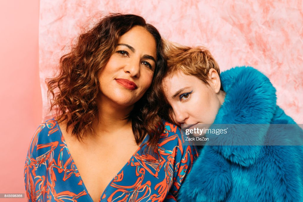 Founders of Lenny Jenni Konner (L) and Lena Dunham pose for a portrait during the Daily Front Row's Fashion Media Awards at Four Seasons Hotel New York Downtown on September 8, 2017 in New York City.