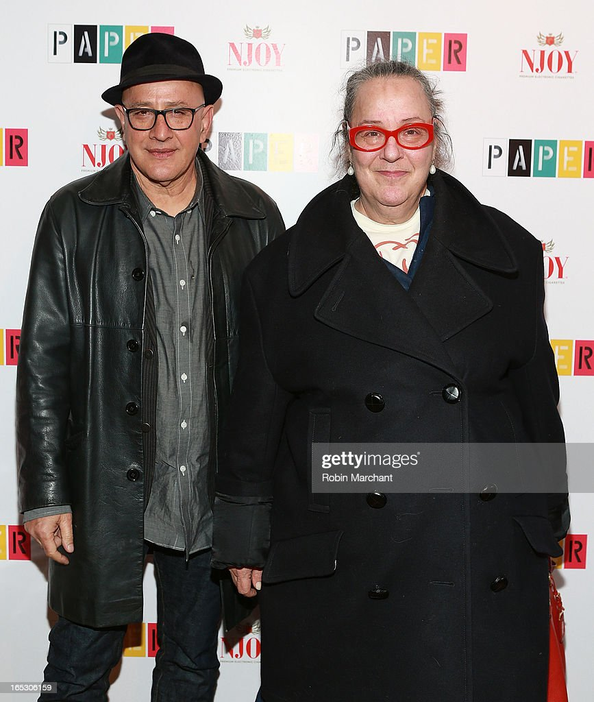 Founders of Paper Magazine David Herskovitz (L) and Kim Hastreiter attend Paper Magazine's 16th Annual Beautiful People Party at Top of The Standard Hotel on April 2, 2013 in New York City.