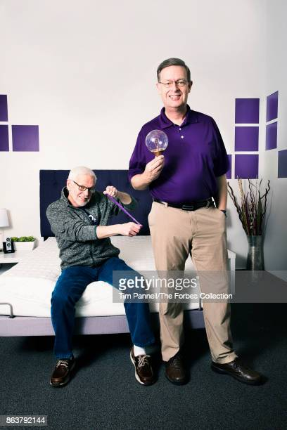 Founders of Purple Tony and Terry Pearce are photographed for Forbes Magazine on March 17 2017 in Alpine Utah PUBLISHED IMAGE CREDIT MUST READ Tim...