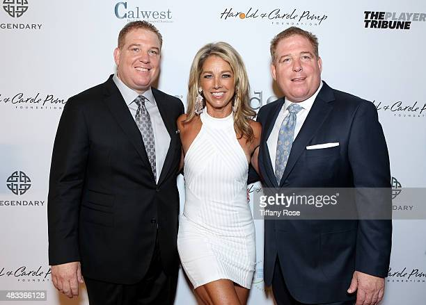Founders of the Harold and Carole Pump foundation David Pump and Dana Pump and fitness instructor Denise Austin attend the 15th annual Harold Carole...
