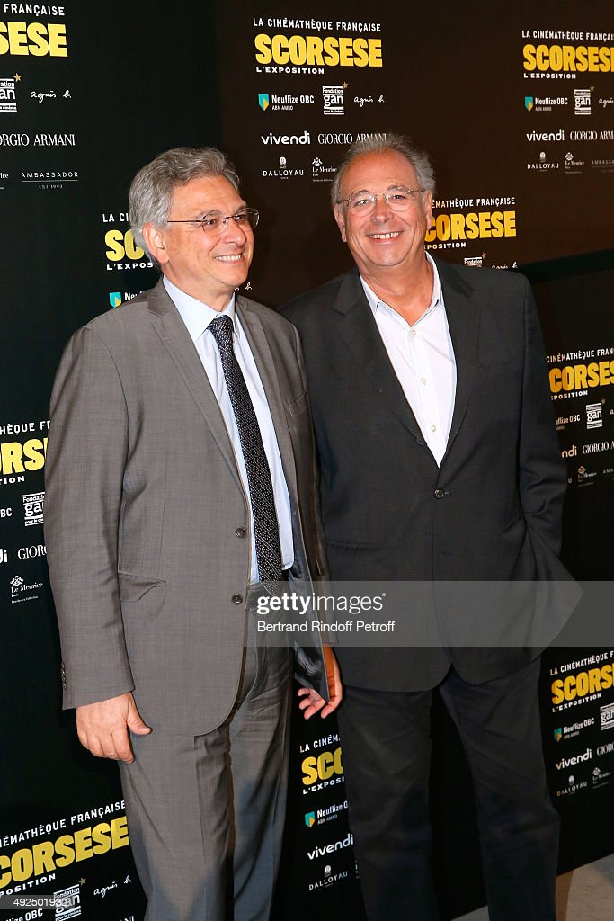Founders of the 'Metropolitan Filmexport', Victor Hadida and his brother Samuel Hadida attend the Tribute to Director Martin Scorsese at Cinematheque Francaise on October 13, 2015 in Paris, France.