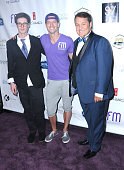 Founders Robbie Nygren Ronnie Kroell and Eddie Lobo attend the Friend Movement's 2014 Stardust Soiree at Madame Tussauds on September 20 2014 in...