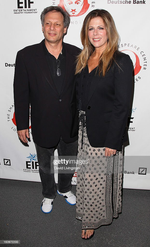 Founding Artistic Director Ben Donenberg (L) and actress <a gi-track='captionPersonalityLinkClicked' href=/galleries/search?phrase=Rita+Wilson&family=editorial&specificpeople=202642 ng-click='$event.stopPropagation()'>Rita Wilson</a> attend the Shakespeare Center of Los Angeles' 22nd Annual 'Simply Shakespeare' at the Freud Playhouse, UCLA on September 27, 2012 in Westwood, California.