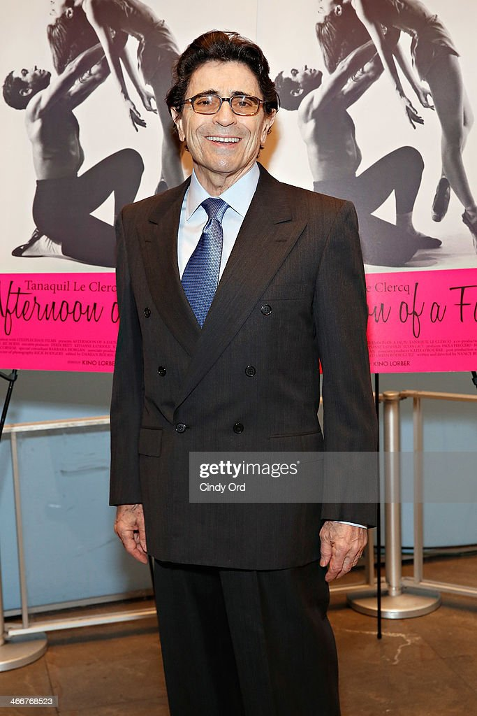 Founding artistic director of Miami City Ballet Edward Villella attends the 'Afternoon Of A Faun' screening on February 3, 2014 in New York City.
