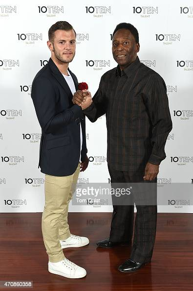 ¿Cuánto mide Jack Wilshere? - Altura - Real height Founding-clients-of-10ten-talent-pele-and-jack-wilshere-pose-for-picture-id470860358?s=594x594