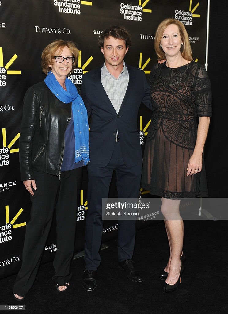 Founding director of the Sundance Institute's Feature Film Program Michelle Satter, filmmaker Benh Zeitlin and Executive director, Sundance Institute Keri Putnam arrive at the Sundance Institute Benefit presented by Tiffany & Co. in Los Angeles held at Soho House on June 6, 2012 in West Hollywood, California.