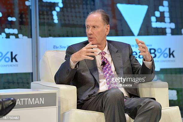 Founding partner at TPG Capital David Bonderman participates in a discussion at the New York Times 2013 DealBook Conference in New York at the New...