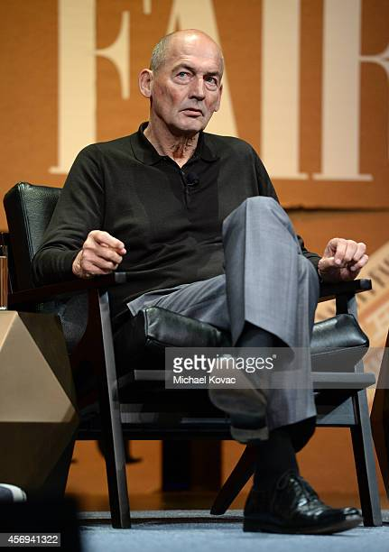 Founding Partner Rem Koolhaas speaks onstage during 'Design in the Digital Age' at the Vanity Fair New Establishment Summit at Yerba Buena Center for...