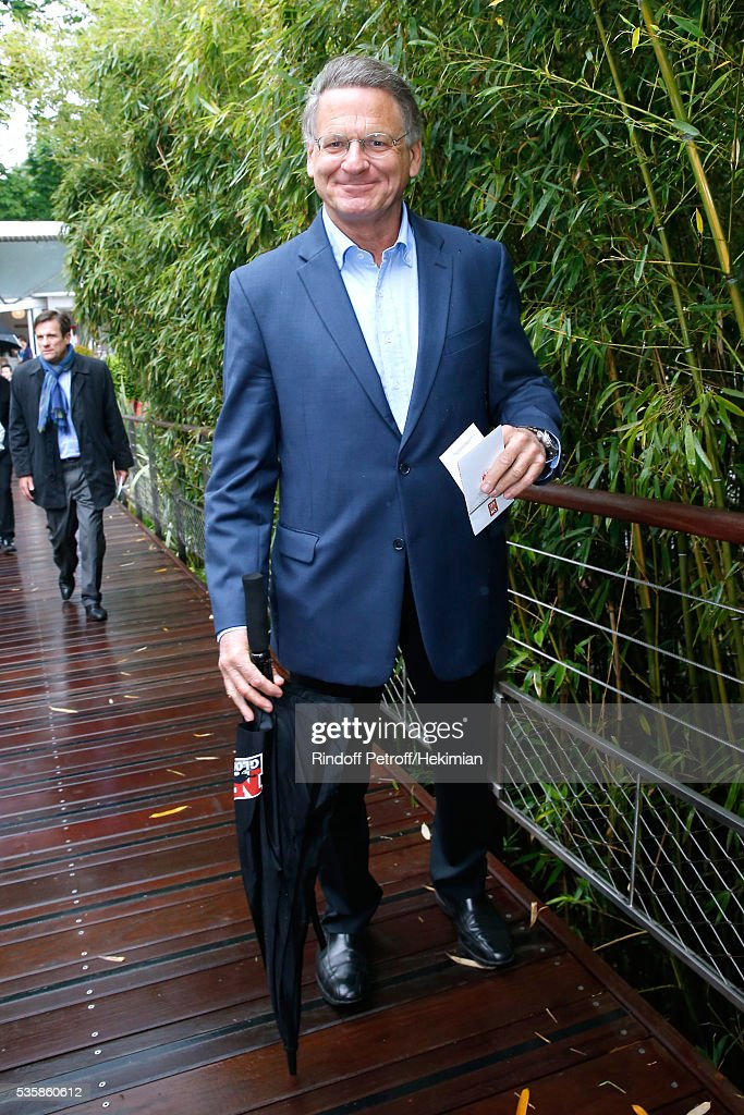 Founding President of NRJ Group, Jean-Paul Baudecroux attends Day Nine of the 2016 French Tennis Open at Roland Garros on May 30, 2016 in Paris, France.