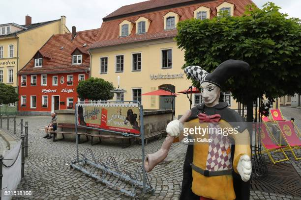 A fountain and square stand on July 24 2017 in Pulsnitz Germany Linda W a German teenager from Pulsnitz was captured by Iraqi troops last week during...