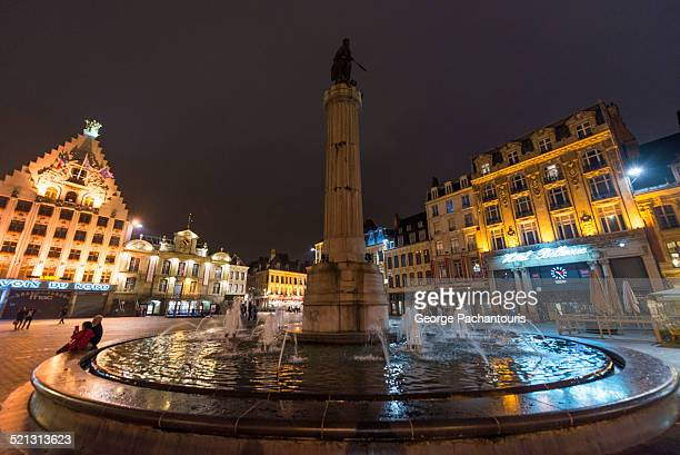 Fountain and the statue of The Goddess in Lille