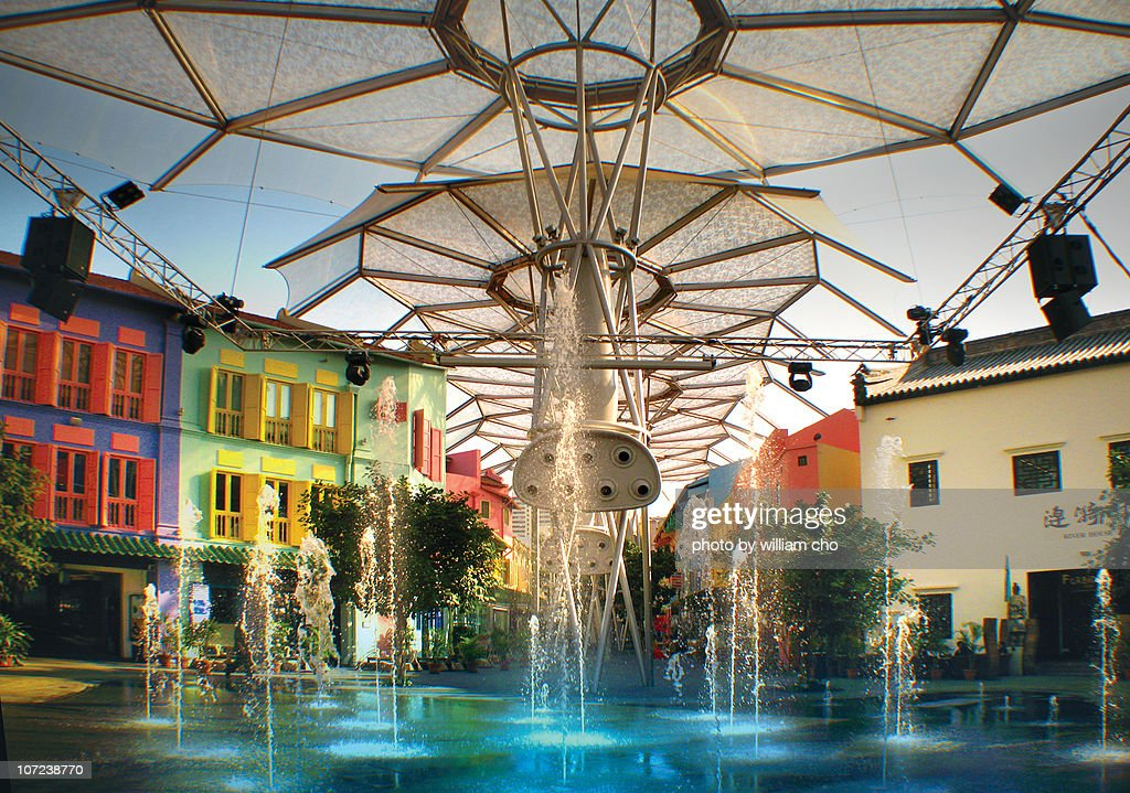 Fountain at ClarkeQuay : Stock Photo