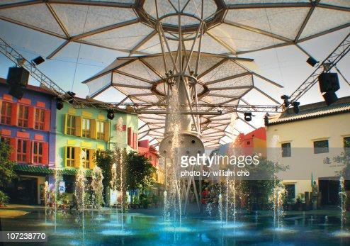 Fountain at ClarkeQuay : Foto de stock