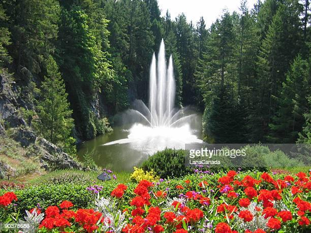 Fountain at the Beautiful Butchart Gardens