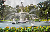 The Fountain in the Forsyth Park is one of the nicest Places in Savannah