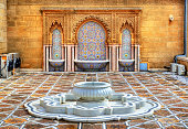 Fountain at the Mausoleum of Mohammed V in Rabat - Morocco