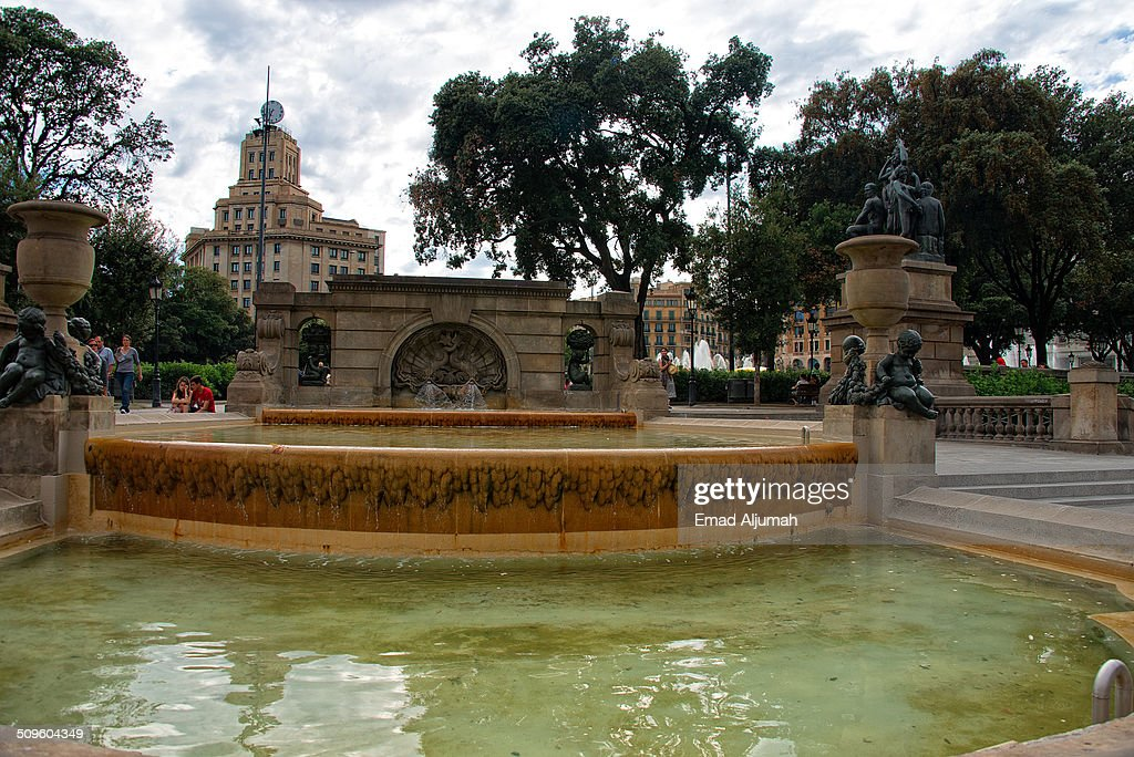 Fountain at the Plaça de Catalunya, Barcelona