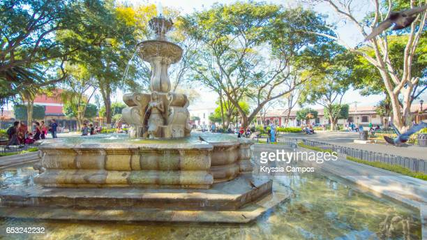 Fountain at Town Square of Antigua, Guatemala